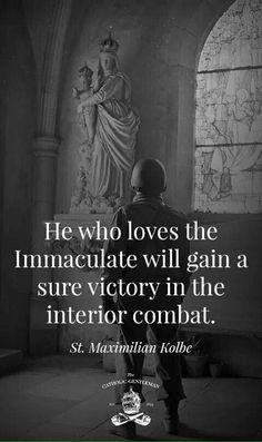 St. Maximilian Kolbe on interior combat
