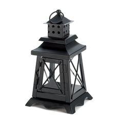 Black Metal Garden Tabletop Light house outdoor Lantern