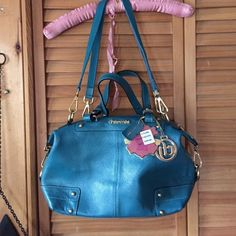 """New purse CHARME'S teal $209 Bought this and decided I have too many. Tags attached at $209. 16"""" wide 8"""" tall 5"""" deep strap drop is 14"""" with a extra handle. No trades. Perfect gift: Bundles welcomed.  Charmes Bags"""