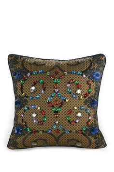 Baroque Embellished Decorative Pillow - Teal by Nanette Lepore on @nordstrom_rack