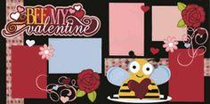 Bee My Valentine Page Kit