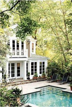 Dream home with a pool. So pretty.
