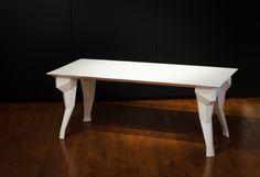 Arek Wolski, table, steel powder coated.