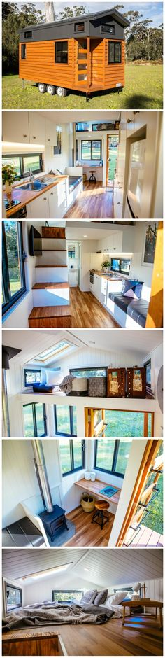 Tiny House Movement, Bedroom Loft, Large Bedroom, Bedroom Windows, Tiny House Plans, Tiny House On Wheels, Tiny House Nation, Warm Home Decor, Best Solar Panels