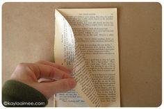 Paperback Christmas Tree Tutorial Step 8