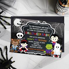 40 Handmade Halloween Cards & Party Invitations - Big DIY Ideas