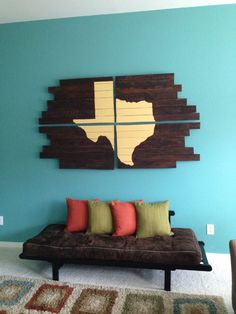DIY Pallet Projects | DIY Pallet Wood project completed! | Things I Like. Love it....only not Texas!