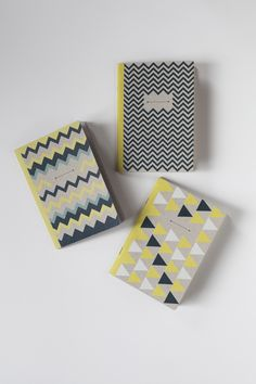 THE INDIANS - 3 pocket notebooks, one ruled, one plain and one squared to note and draw, at the office or up on a chestnut tree. By Papier Tigre
