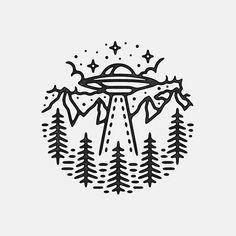 ✌️ #graphicdesign #design #art #artwork #drawing #illustration #handdrawn #slowroastedco #tattoo #ufo #alien #xfiles #outdoors #mountains #nature #travel #explore #adventure