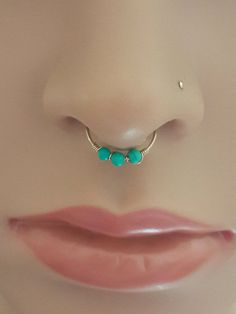 Turquoise Nose Ring  Septum Ring  Tragus by HelenCollectionJewel