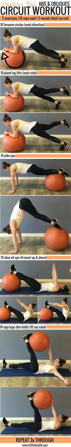 A killer ab workout in a short amount of time! Stability Ball Abs &…