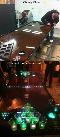 38 Trendy back yard games drinking man cave Led Beer Pong Table, Beer Games, Abc Games, Fun Drinking Games, Backyard Games, Outdoor Games, Backyard Ideas, Birthday Games, Diy Table