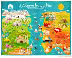 Illustrated Maps of Cities | ... obsession with game of thrones here you can enjoy her beautiful map of