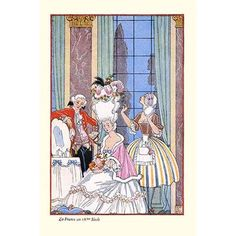 """Buyenlarge 'France in The 18Th Century' by George Barbier Painting Print Size: 66"""" H x 44"""" W x 1.5"""" D"""