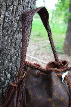 Our hand braided straps that come with our LHTX bags! #theoriginal #leatherandvodka
