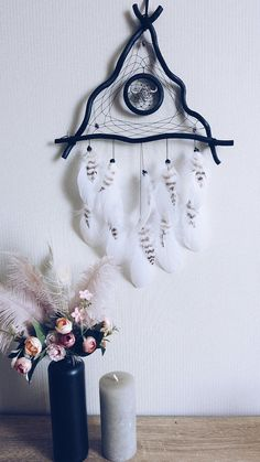 hippie room decor 538250592965593387 - Black Triangular Dream catcher Wall hanging room decor With metal Buffalo head Bedroom decor Source by lupinehollow Dream Catcher Art, Dream Catcher White, Hippy Room, Hippie Room Decor, Diy And Crafts, Arts And Crafts, Driftwood Crafts, Wooden Wall Art, Mobiles