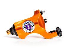Bishop Lamborghini Orange Rotary Tattoo Machine - RCA Cable - $ 394.99
