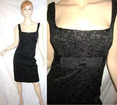 NANETTE LEPORE Wool Viscose Blend Embroidered Bow Tie Cocktail Party Dress 8...see more details at this link - http://stores.shop.ebay.com/vintagefluxed