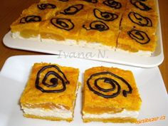 Mrkvové řezy s meruňkami Sugar, Cookies, Baking, Food, Crack Crackers, Bakken, Eten, Cookie Recipes, Bread