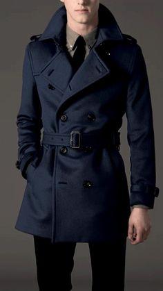 Stay Classy...men's short trench coat