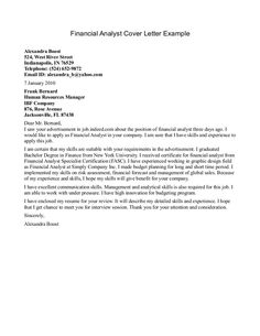 financial analyst cover letter example market research