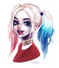 Image shared by Oreo Twinkie. Find images and videos about art, joker and harley quinn on We Heart It - the app to get lost in what you love. Harley Quinn Tattoo, Harley Quinn Drawing, Joker Und Harley Quinn, Wonder Woman Comics, Property Of Joker, Harey Quinn, Daddys Little Monster, Dibujos Cute, My Spirit Animal