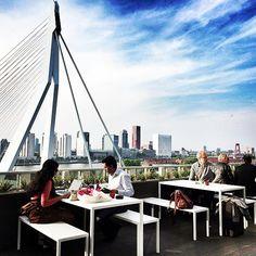 "@Vincent Kwek Taapken's photo: ""Springtime at @Natalie Howard Rotterdam skyline roofterrace"""