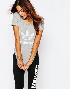 adidas Originals Fitted T-Shirt With Trefoil Logo https   api.shopstyle 591441fe4