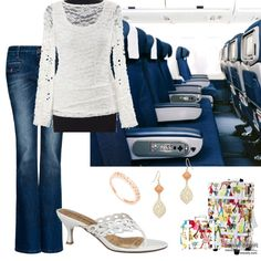Kelly's stylish #outfit for the Leaving on a Jet Plane #fashion mission #travel