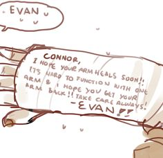 """""""I hope you get your arm back""""???? Did he write all of that to take up as much space as Connor did like the petty piece of shit he is?"""