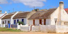 Western cape fisherman's houses Pioneer House, Fishermans Cottage, South Afrika, Cape Dutch, Dutch House, South African Art, Cottage Art, House Painting, Home Art