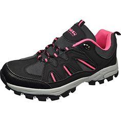 cool Air Balance Girls Hiking Boots - Black/Fuchsia