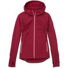 Athleta is giving Title Nine a run for their raglan money this season.  Here's one I like...  My only wish would be 2-way front zipper.  otherwise, near perfect.    Half Mile Hoodie | Athleta