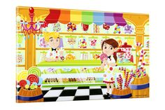 Candy Store Canvas Art