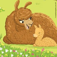 Adorable alpacas from Storytime new Alphabet Zoo - an educational poetry series for kids! Art by @tbudgen ~ STORYTIMEMAGAZINE.Com