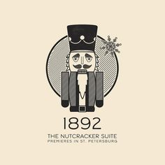 This Day In History - Dec 18 - 1892 - The Nutcracker Suite ballet premieres in St Petersburg Russia.  --- #thisdayinhisotry #todayinhistory #tdih #history #nutcracker #christmas #holiday #tradition #russia #russian #Tchaikovsky #ballet #theater #winter #365project #illustration #adobe #vector #minimal #minimalism #minimalist #simple #texture #onthisday #snowflake