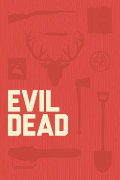 The Evil Dead (1981) ~ Minimal Movie Poster by Andrew Herwig #amusementphile