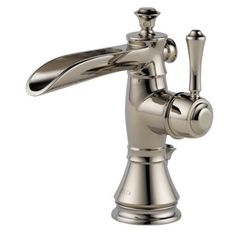 This Delta Cassidy single-hole faucet has a polished nickel finish that brightens up your entire vanity area. The faucet is free of lead for your health and has easy single-lever operation, making it ADA compliant.