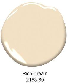 Rich Cream, 2153-60, Courtesy of Benjamin Moore