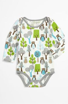 DwellStudio 'Owl' Bodysuit (Infant) available at #Nordstrom