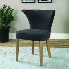 Uttermost Dasen Dark Gray Accent Chair
