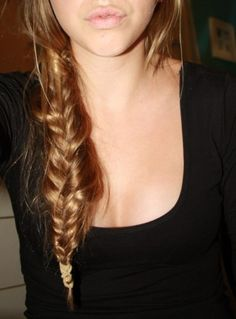 Gorgeous messy fishtail braid