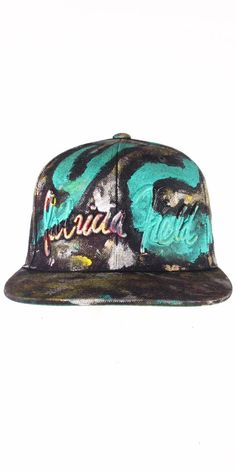 33acf4828aa Original Patricia Field Signature snapback cap BUT with an artful twist!  Customized by artist Daniel Chimowitz during Miami Art Basel