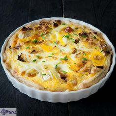 prei quiche met geitenkaas, honing en walnoot - leek quiche with goat cheese, honey and walnuts