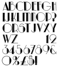 Art Deco Typography this period was known for geometry! therefore goemerty wasnt there only in fashion or motifs but even in the typography!