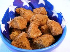 weelicious chicken nuggets; so so so delicious- freeze and make some to keep in the freezer.  Add 5 minutes or so.  Real chicken nuggets.  Yum!