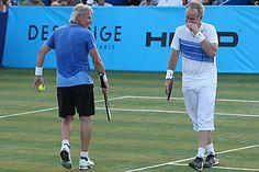 John McEnroe, right, got the better of his last meeting with Bjorn Borg last week.