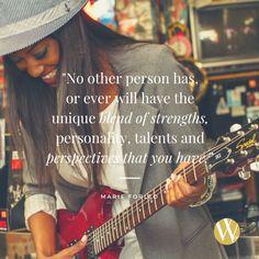 Cherish your uniqueness!