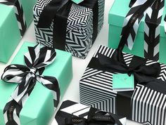 Love black/white wrapping paper and ribbon. It is great with the mint green