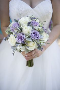 I love this bouquet! And it would go well with the bridesmaids dresses. Image source Soft pastel pink and purple wedding bouquet {Bryan Sargent Photography} Image source Bridal Flowers – September Wedding Image source Lavender Bouquet, Purple Wedding Bouquets, Rose Wedding Bouquet, White Wedding Flowers, Bride Bouquets, Bridal Flowers, Floral Wedding, Wedding Colors, Trendy Wedding